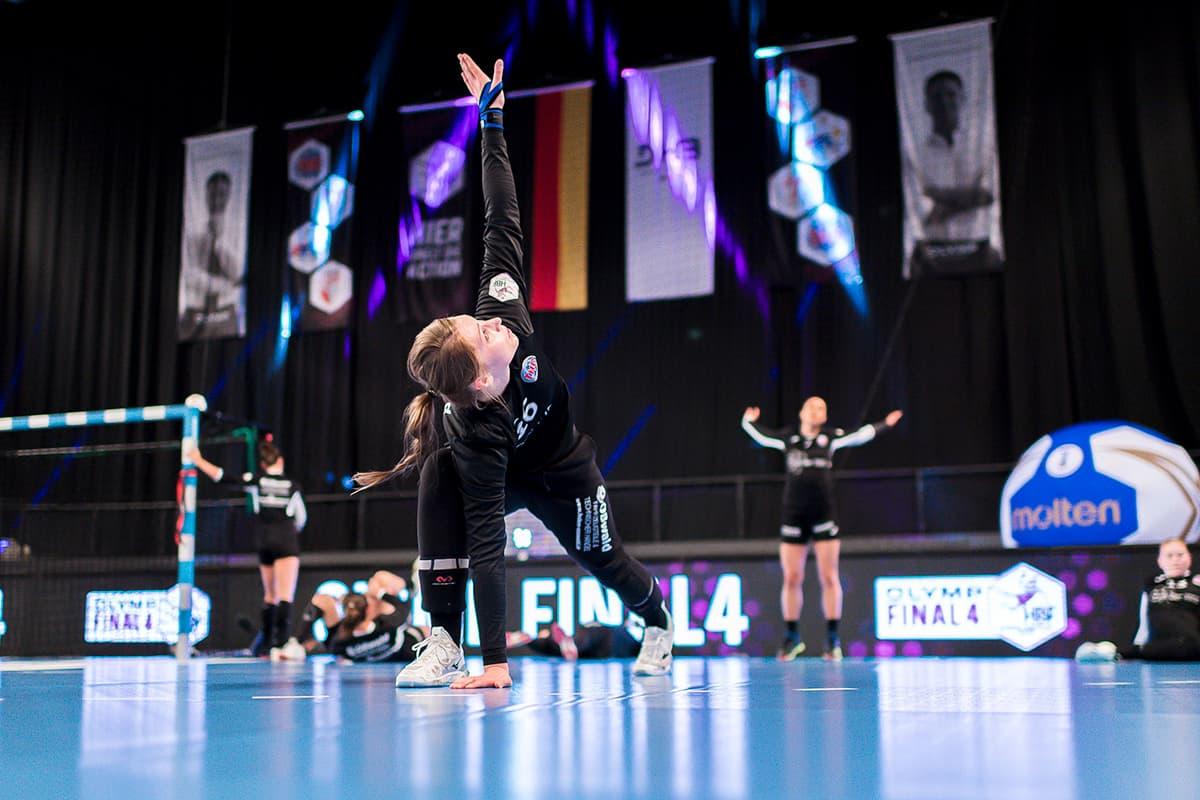 Endrunde 2019 um den DHB-Pokal der Frauen. Aufwärmprogramm